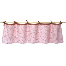 Field of Flowers Tab Top Tailored Curtain Valance