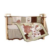 Jungle Spa 4 Piece Crib Bedding Set