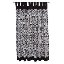 Damask Tadpoles Cotton Tab Top Curtain Panel (Set of 2)