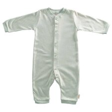 Tadpoles Organic Double Knit Cotton Footless Snap Front Romper in Sage