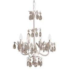 4 Light Wrought Iron Chandelier