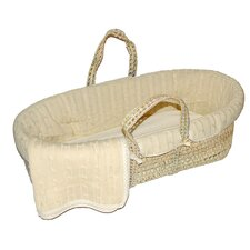Tadpoles Cable Knit Moses Basket