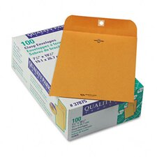 Clasp Envelope, 7 1/2 x 10 1/2, 28lb, Light Brown, 100/box