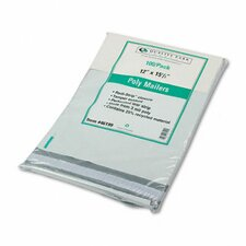 Redi-Strip Recycled Poly Mailer, Side Seam, 12 x 15 1/2, White, 100/pack