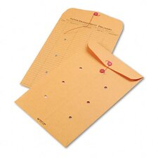 Light Brown Kraft String & Button Interoffice Envelope, 10 x 15, 100/carton