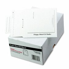 Recycled Foam-Lined Multimedia Mailer, Contemporary, 5 x 5, White, 25/box