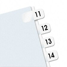 Side-Mount Self-Stick Plastic Index Tab, 104/Pack