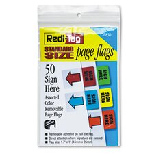 Removable Page Flag, 50/Pack