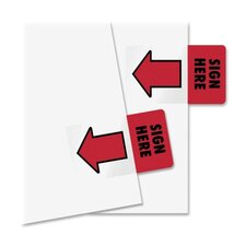 "Removable / Reusable ""Sign Here"" Page Flag, 50/Pack"