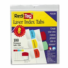 <strong>Redi-Tag Corporation</strong> Laser Printable Index Tabs (100 Pack)
