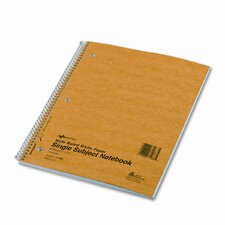 Subject Wirebound Notebook, Wide/Margin Rule, 80 Sheets/Pad