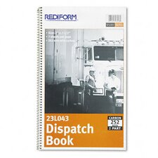 Driver's Dispatch Log Book, 252 Sets/Book