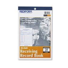 Receiving Record Book, 50 Sets/Book