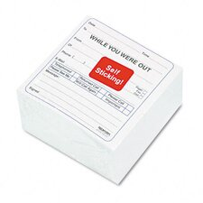"""While You Were Out"" Self-Sticking Mega Message Cube, 512 Form Sets/Pack"