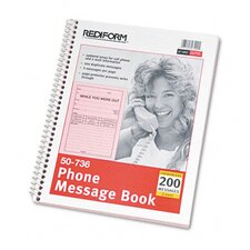 Wirebound Message Book, 200 Sets/Book