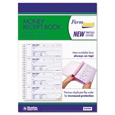 Money Receipt Book, 2-3/4 x 7, Carbonless Triplicate