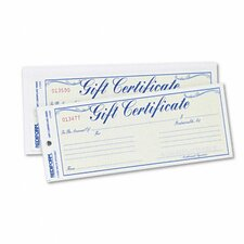 Gift Certificate with Envelopes, 25/Pack