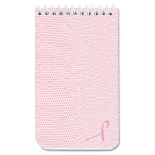 National Brand Pink Ribbon Memo Book, Pink Cover
