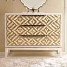 "Designer Series 46"" Avery Hall Chest Vanity Set"