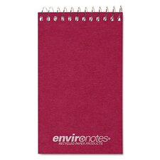 Wirebound Memo Book, 3 x 5, 60 Pages, Narrow Ruled, Assorted Earthtones