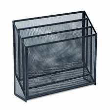 Mesh Three-Tier Organizer, 12 3/4w x 3 1/2d x 11 1/2h, Black