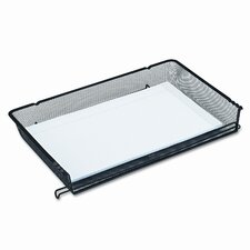 Nestable Mesh Stacking Side Load Legal Tray, Wire, Black