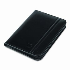 Faux Leather Business Card Book with Zipper Holds 120 2-1/4 x 4 Cards, Black