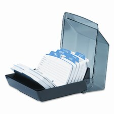Petite Covered Tray Card File Holds