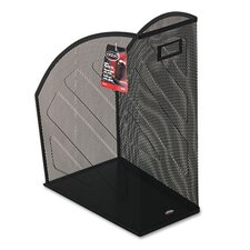 Nestable Rolled Mesh Steel Jumbo Magazine File, 10 x 12-1/2 x 5-7/8, Black