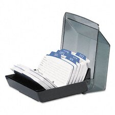 <strong>Rolodex Corporation</strong> Petite Covered Tray Card File Holds