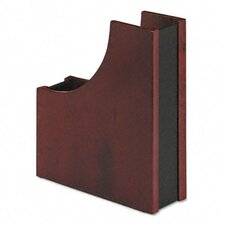 Wood And Faux Leather Magazine File