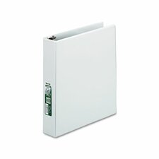 "Antimicrobial Locking D-Ring View Binder, 1-1/2"" Capacity, White"