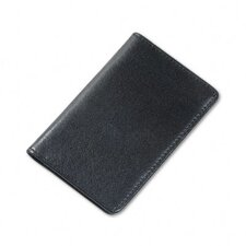 <strong>Samsill Corporation</strong> Regal Leather Business Card Wallet Holds 25 2 x 3-1/2 Cards, Black