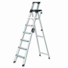 <strong>Cosco</strong> Eight-Foot Lightweight Aluminum Folding Step Ladder with Leg Lock and Handle