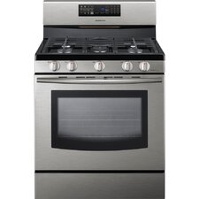 <strong>Samsung</strong> Freestanding Gas Range with Fan Convection Cooking in Stainless Steel