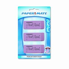 Pink Pearl Eraser, Large, Three Per Pack