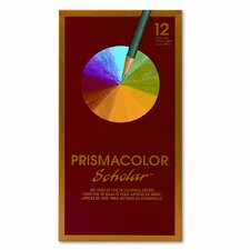 Scholar Colored Woodcase Pencils, 12 Assorted Colors/set