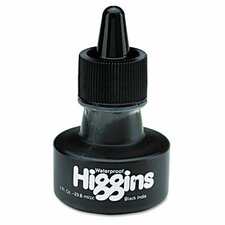 Higgins Waterproof India Ink For Art/Technical Pens, 1 Oz Bottle