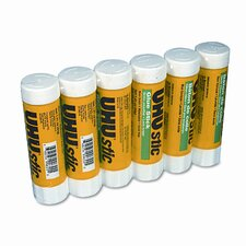 <strong>Saunders Manufacturing</strong> UHU Stic Permanent Clear Application Glue Stick, 1.41 oz, 6/pack