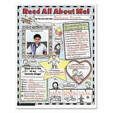 Instant Personal Poster Sets, Read All About Me, 30/Pack