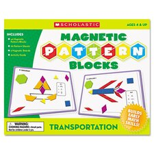 <strong>Scholastic</strong> Transportation Magnetic Pattern Blocks