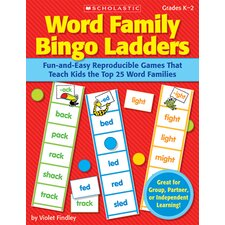 Word Family Bingo Ladders