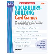 Vocabulary Building Card Games, Grade Two