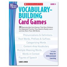 Vocabulary Building Card Games, Grade Four