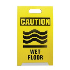 Economy 'Caution Wet Floor' Sign (Set of 2)