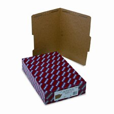 Two Fasteners 2/5 Cut Top Tab 11 Point Kraft Folders, 50/Box