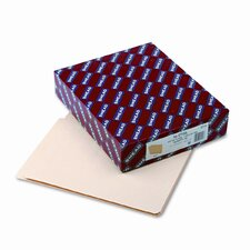 Straight Cut Single-Ply End Tab Shelf Folders, Letter, 100/Box