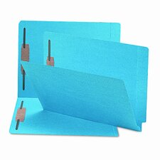 Straight Tab Two-Inch Capacity Fastener Folders, 50/Box