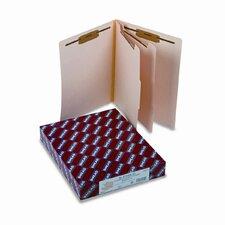 Six-Section Manila End Tab Classification Folders, 10/Box