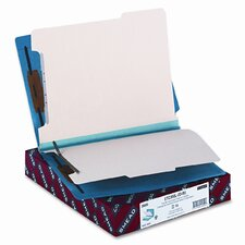 Six-Section Colored End Tab Classification Folders, Letter, 10/Box
